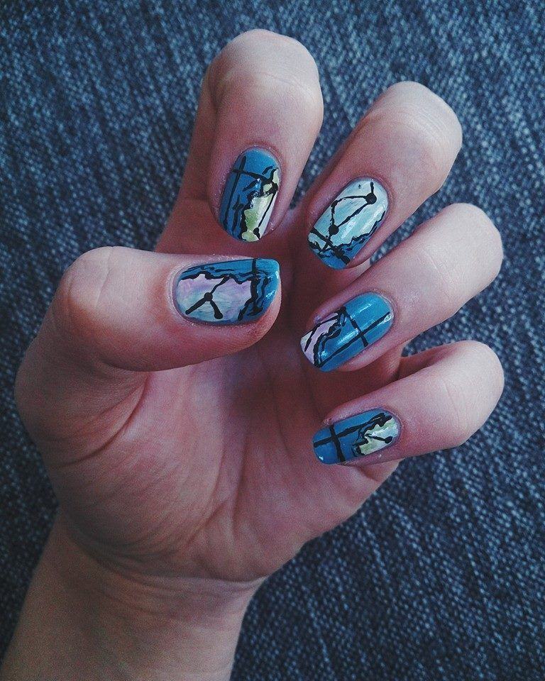 map nail art) \'travel is rebellion in its purest form.\' | ○my own ...