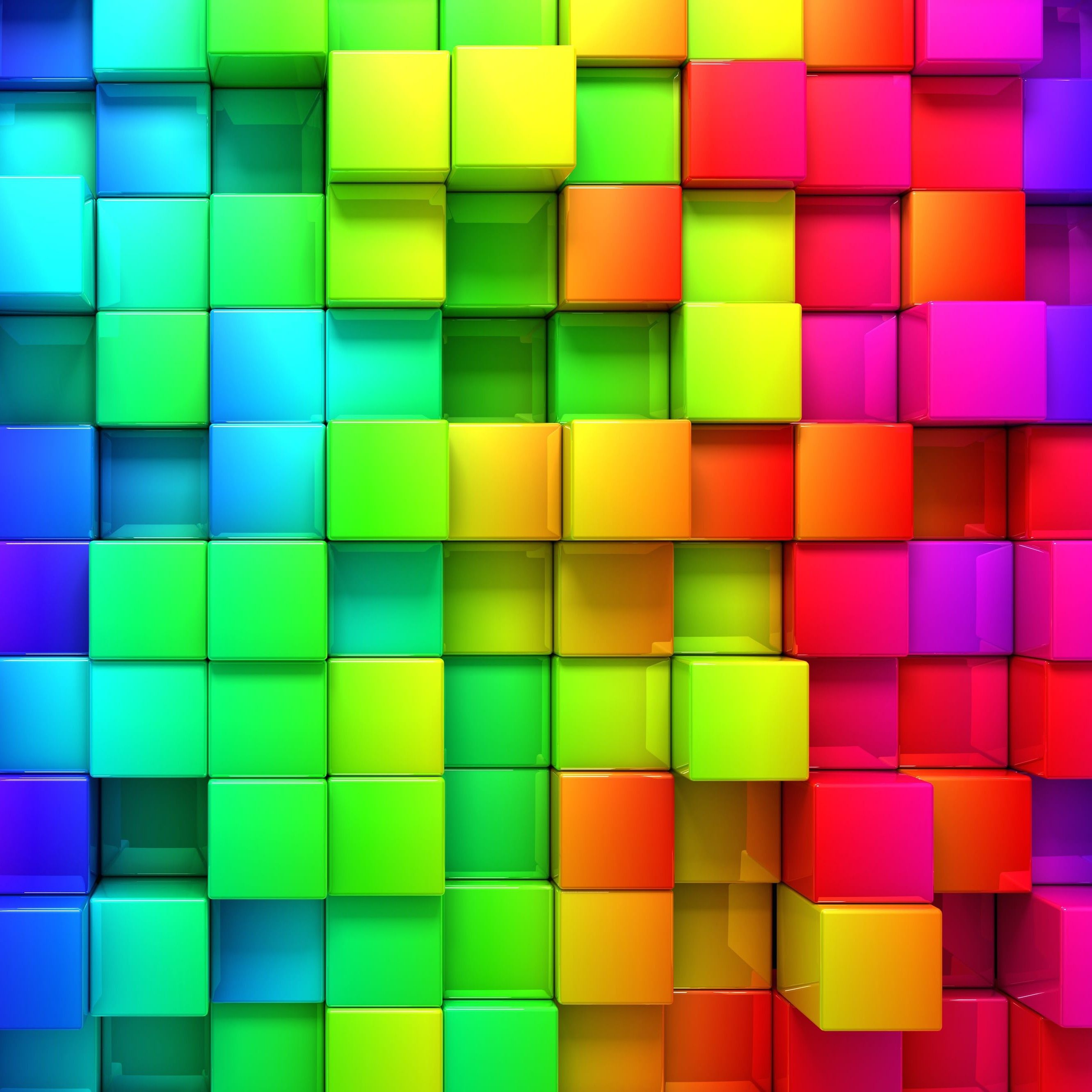 Hd wallpaper rainbow - Cubic Rainbow Hd Wallpaper For Iphone 6 Plus Hdwallpapers Net