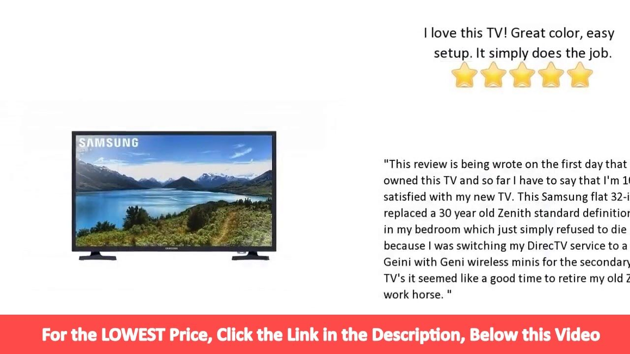 Samsung 31 5 Inch 720p Led Tv Un32j4001afxza 2017 Review Led Tv Samsung 30 Years Old