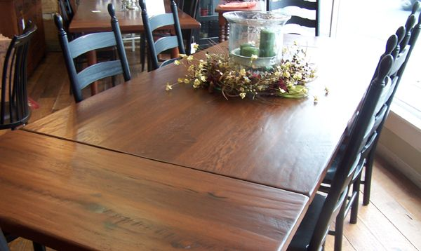 Delightful Handcrafted Thresher Farmhouse Kitchen Table Made From Reclaimed Barn  Board. Shenandoah Furniture Gallery Uses Long