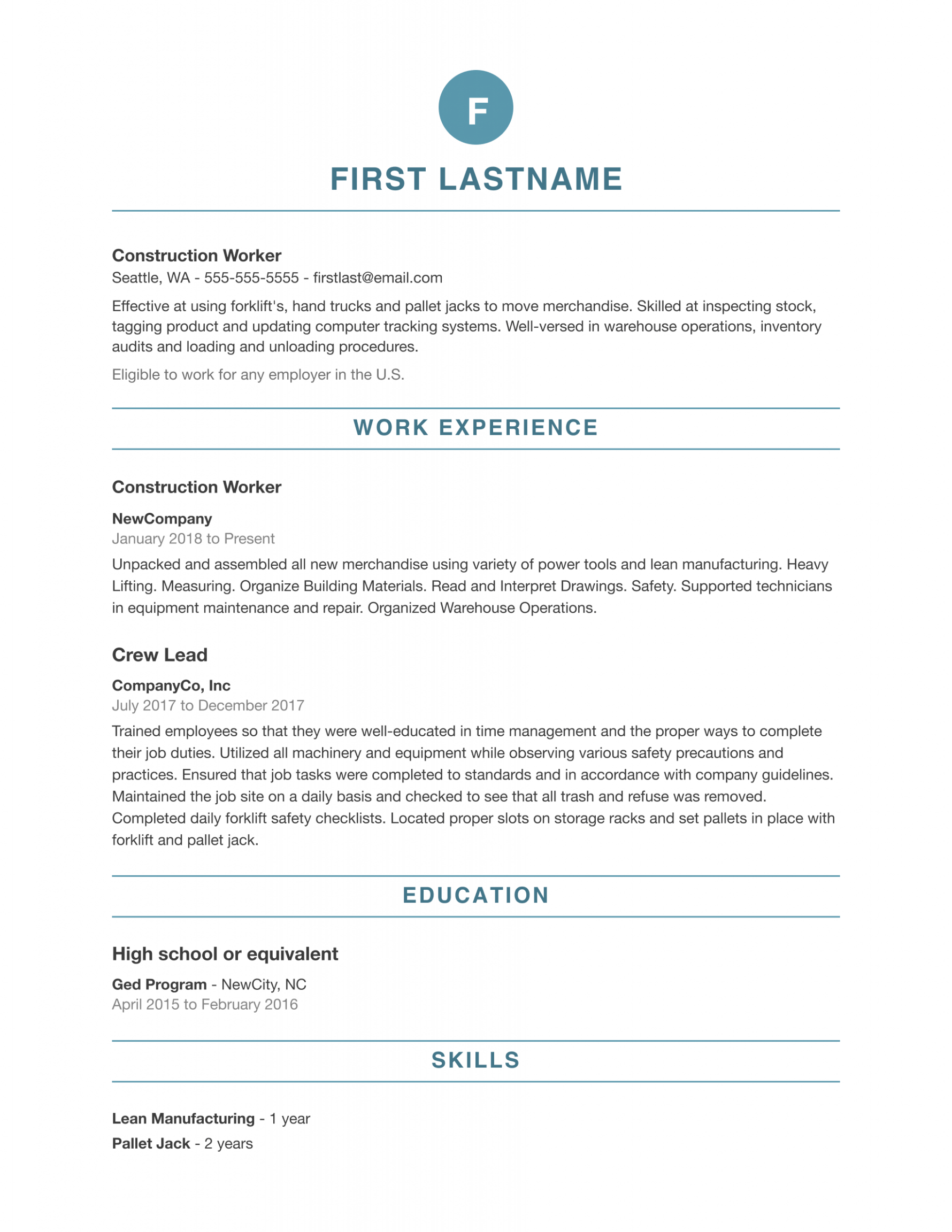 10 Skilled Resume Format in 2020 Free resume template