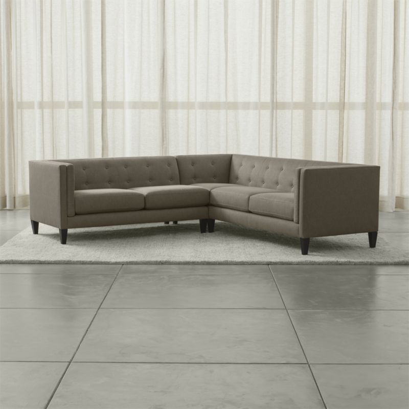 Aidan 2 Piece Right Arm Corner Tufted Sectional Sofa