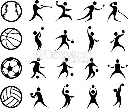 Vector Illustration of Abstract Sports Silhouettes. Best