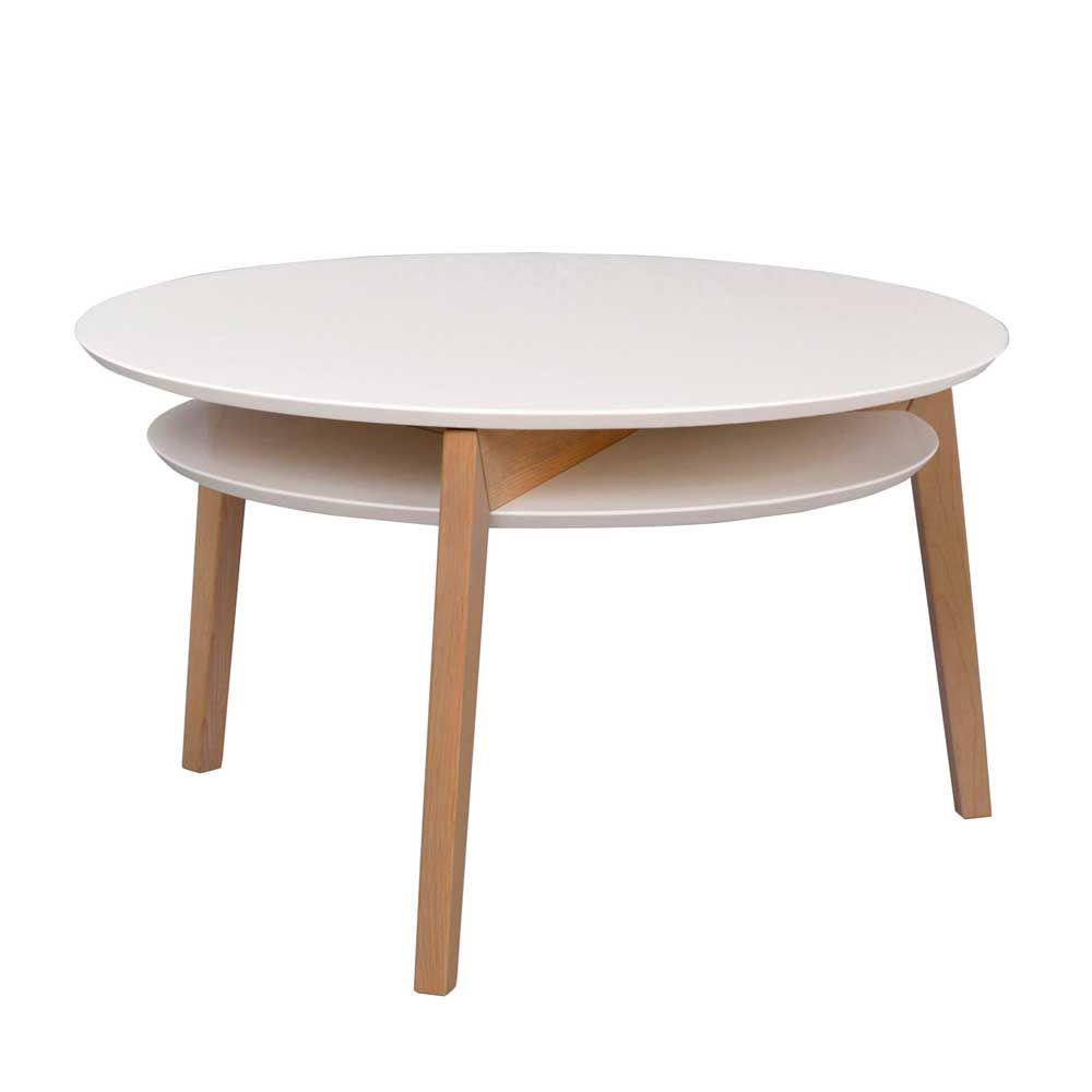 Wohnzimmertisch In Weiss Eiche Rund 85 Cm Jetzt Bestellen Unter Https Moebel Ladendirekt De Wohnzimmer Tische Couchtische Couchtische Wohnzimmertisch Tisch