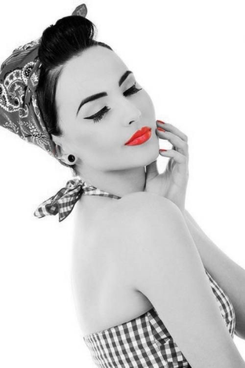 0ce2b76ea745df Pin-up Makeup ♥ | Pin-Ups.... | Pinterest | Rockabilly, Mode and Pin up