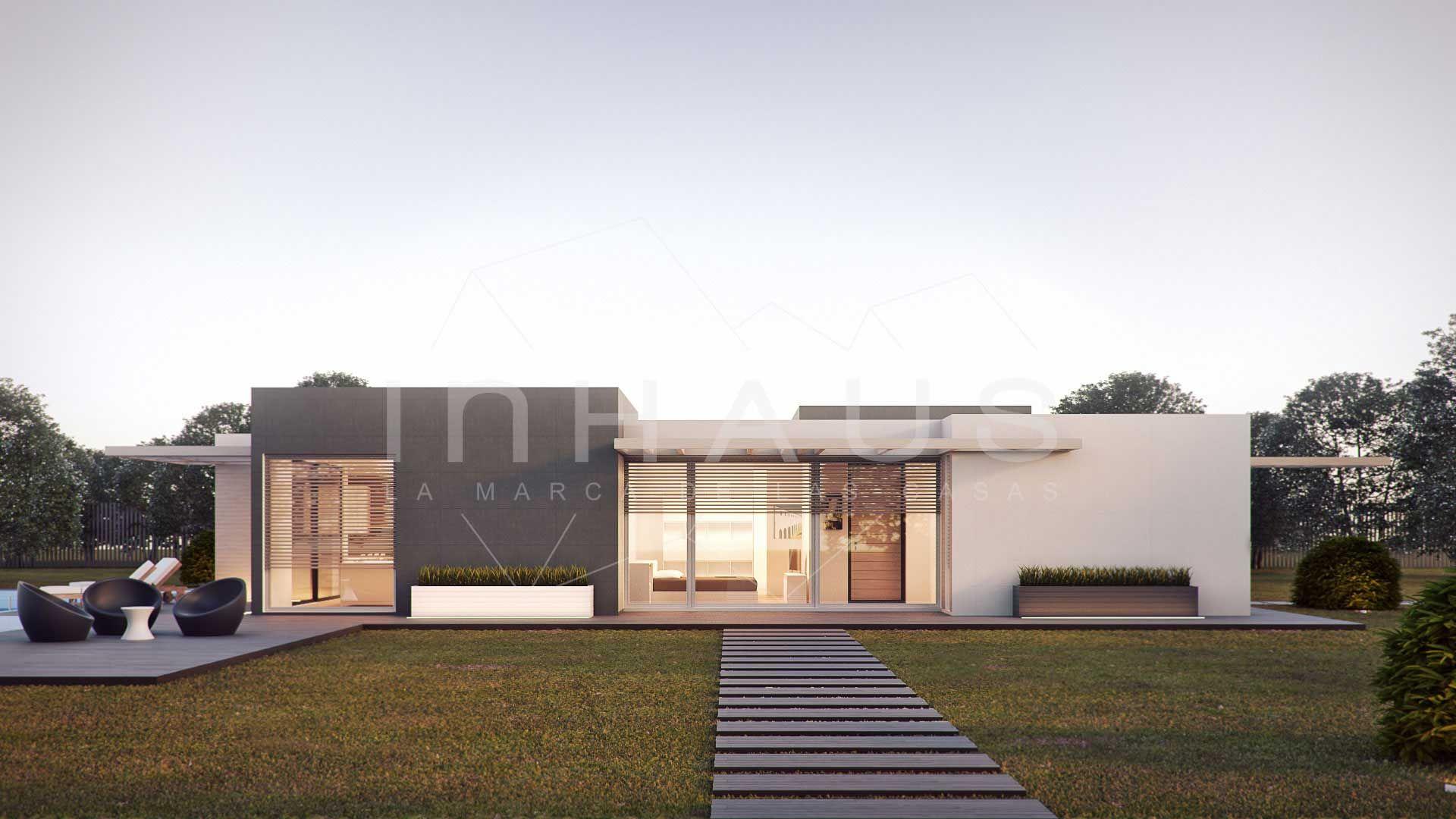 Espectacular modelo de casa prefabricada modular inhaus tres dormitorios en una planta moderna - Casas modernas prefabricadas ...