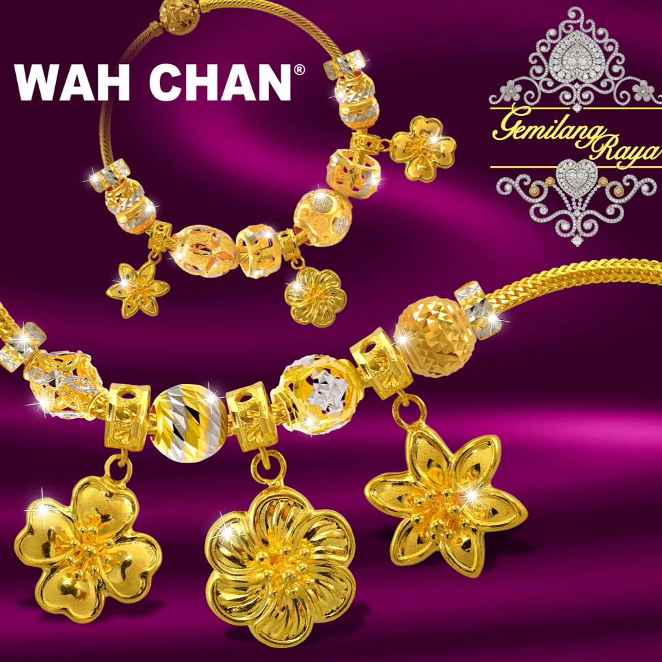 Wah Chan\'s exclusive Raya 916 Gold Charm Bracelet. Summer is upon ...