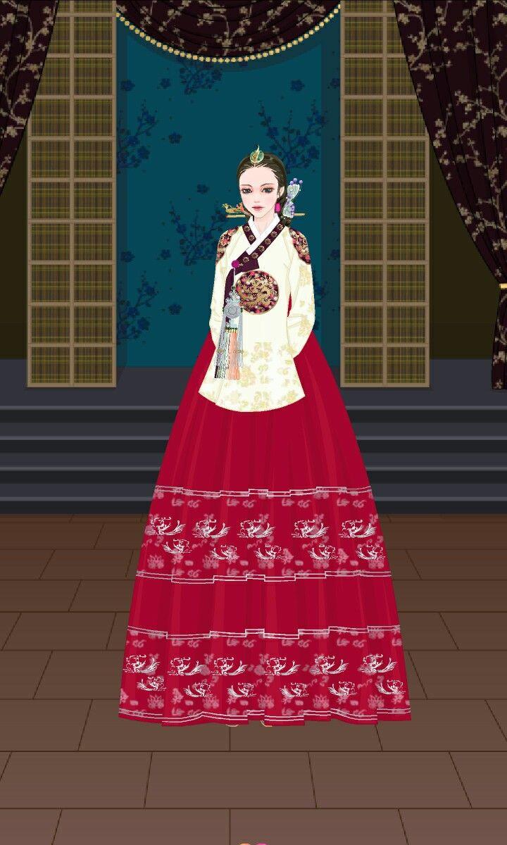 왕비 한복 hanbok Gambar