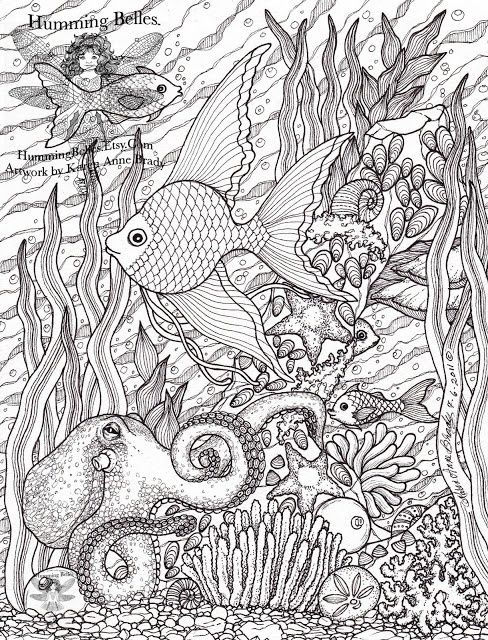 colouring book page for adults pesquisa google - Ocean Coloring Book