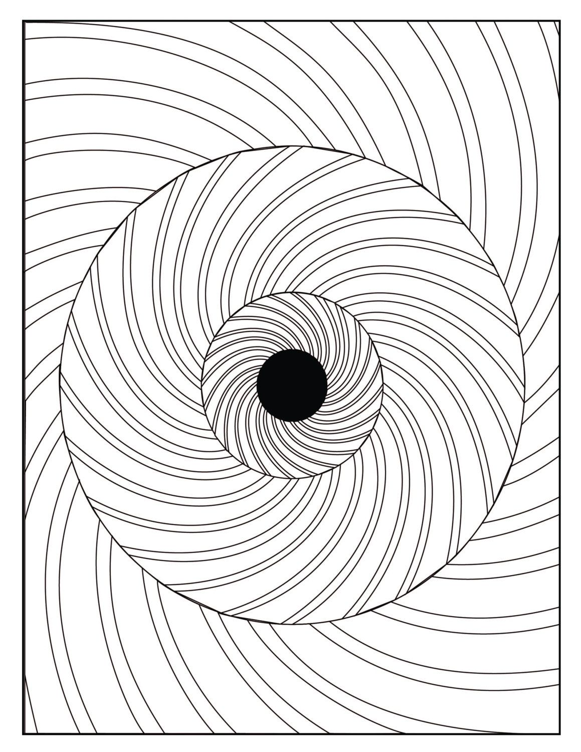 Digital Optical Illusion 3 Coloring Page By Graphicsbyshenessa Abstract Coloring Pages Pattern Coloring Pages Coloring Pages