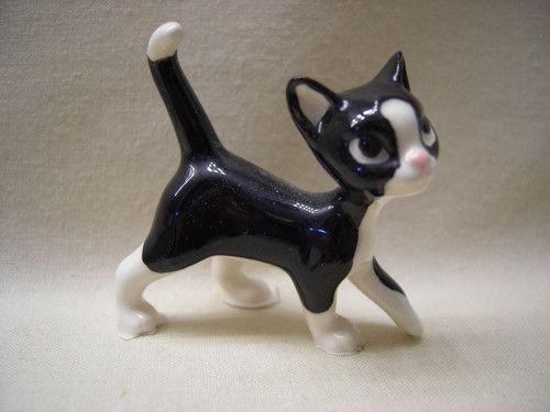 Hagen Renaker Black /& White Persian Fat Cat