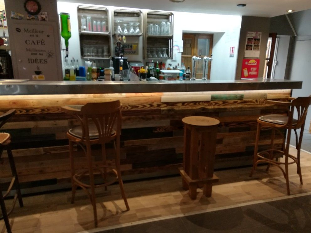 Comptoir Bar Bar En Bois De Palettes Comptoir De Bar Bar En Bois