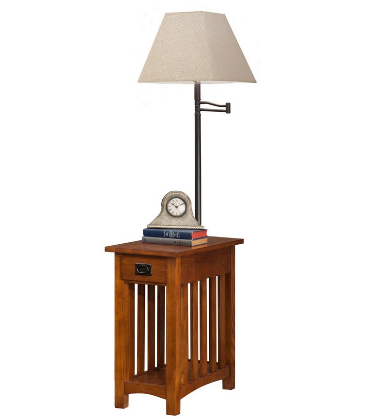 Mission Chairside Lamp End Table Table Lamp End Tables Wood Lamps