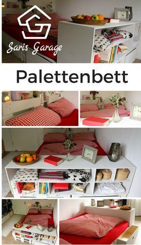 ᐅᐅ】 Palettenbett selber bauen - Europaletten Bett DIY Anleitung