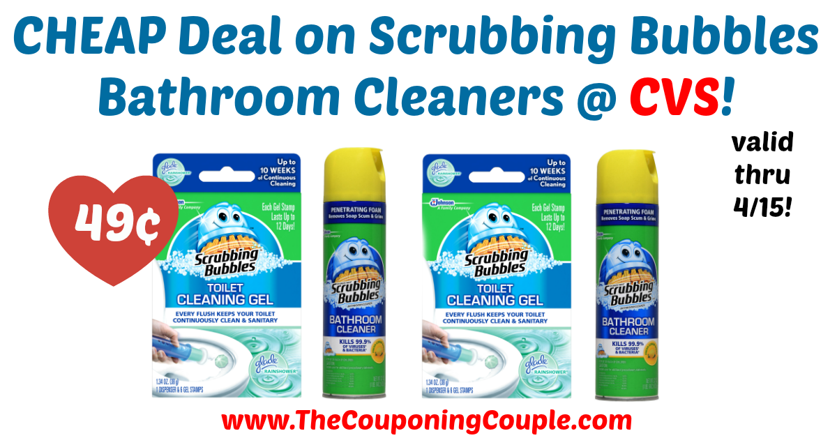 Awesome savings on bathroom cleaners! Great time to stock up! CHEAP Deal on Scrubbing Bubbles Bathroom Cleaners @ CVS!  Click the link below to get all of the details ► http://www.thecouponingcouple.com/cheap-deal-on-scrubbing-bubbles-bathroom-cleaners-cvs/ #Coupons #Couponing #CouponCommunity  Visit us at http://www.thecouponingcouple.com for more great posts!