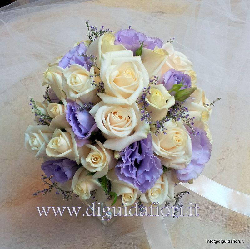 Bouquet Sposa Glicine.Bouquet Da Sposa Con Rose Vendela E Lisianthus Glicine Sposa