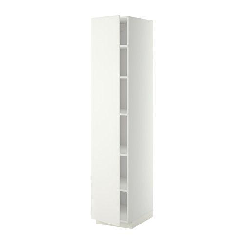 METOD Høyskap med hylleplater - hvit, Häggeby hvit, -, 40x60x200 cm - IKEA