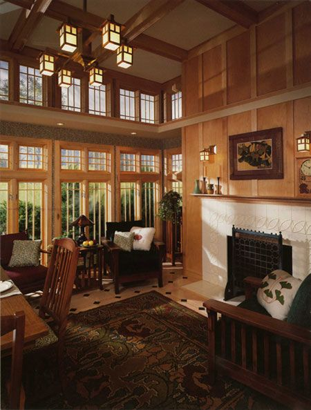 Wall Of Windows Arts Crafts Style Architecture Home Design