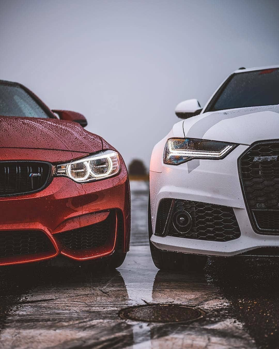 Bmw Vs Audi Which Side Do You Choose Luxuryspeak Bmw M4 Audi Rs6 Class Racing Drift Red White Fourrings Sign Love Front Audi Rs6 Bmw M4 Bmw