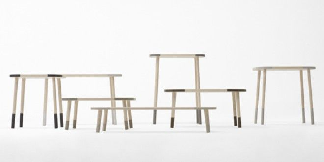 Stone-edge table. Nendo