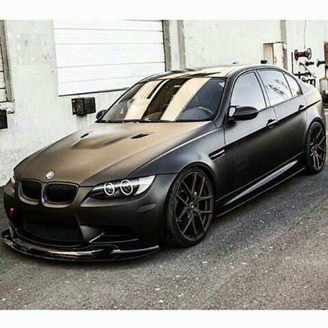 Bmw E92 M3 Matte Black With Images Bmw Bmw Cars Car