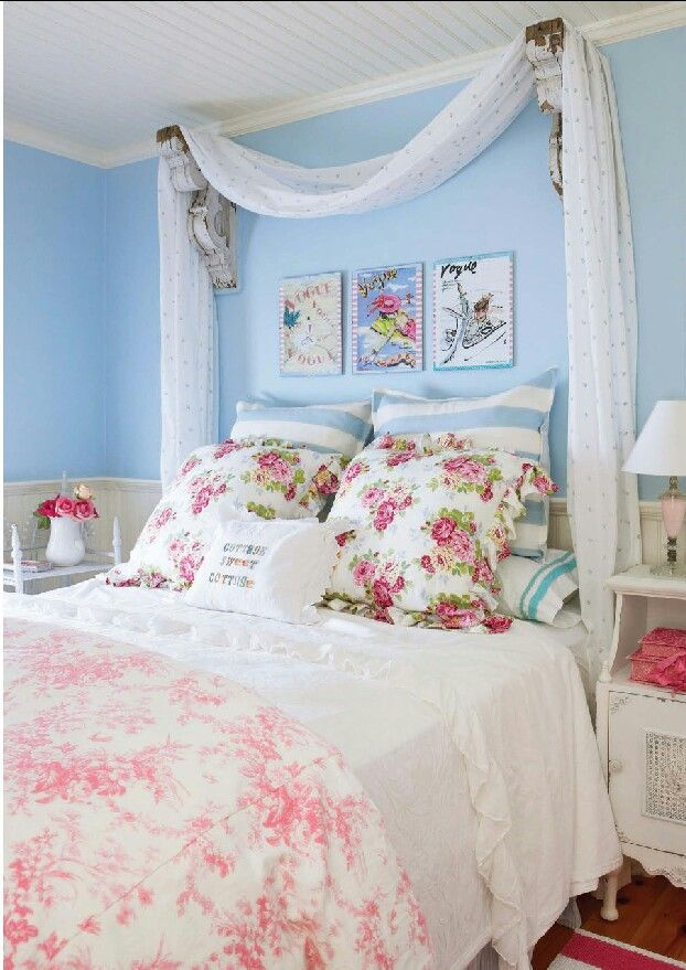The Chic Technique Girls Floral Bedroom And Pink And Blue With