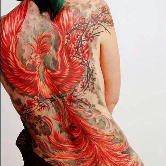 Phoenix Back Tattoo Very Detailed Tattoos Tatouage Tatouage