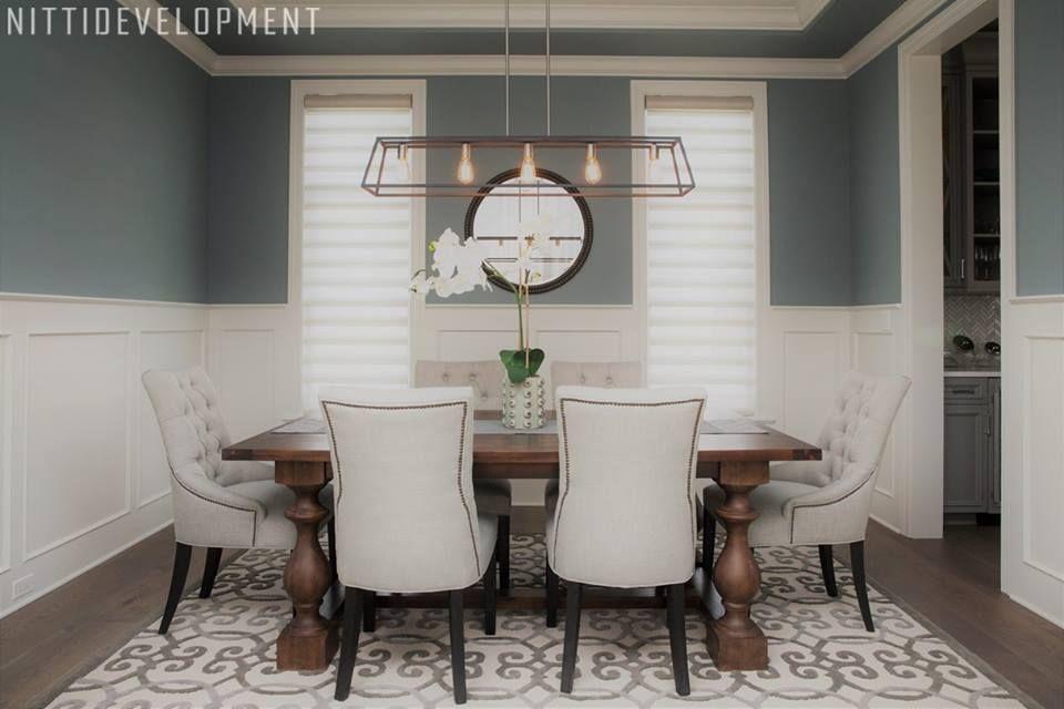 Benjamin Moore Brewster Gray Hc 162 Dining Room