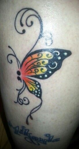 semicolon butterfly tattoo mental health awareness and
