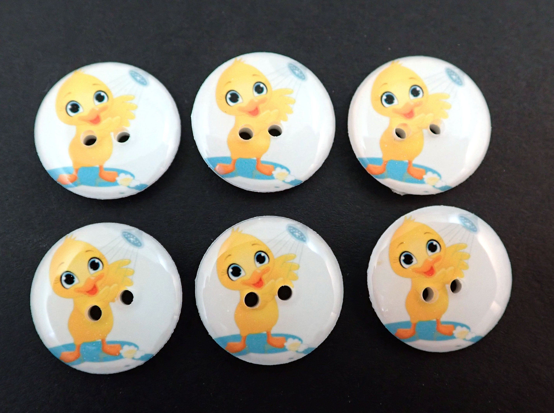 Buttons cute bears//ducks design