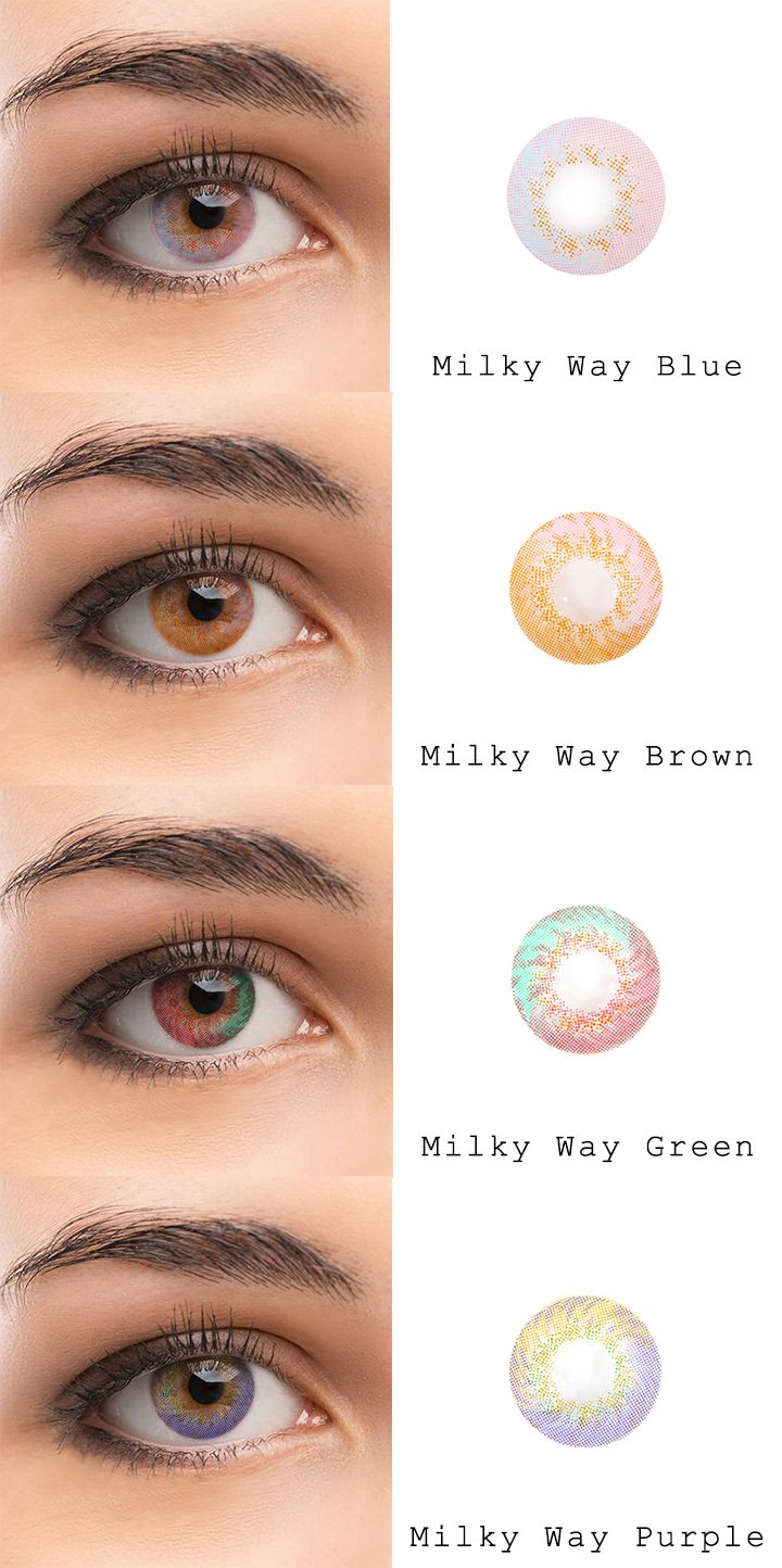 Microeyelenses Com Colored Contact Lenses Online Shop Milky Way Series Blue Brown Green And Eye Color Chart Contact Lenses Colored Coloured Contact Lenses