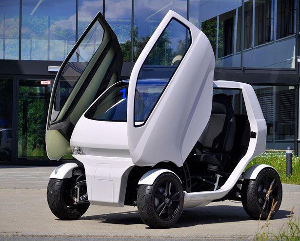 Eoscc2 Flexible Micro Car For Mega Cities With Open Scissor Doors Electric Car Concept Connected Car City Car