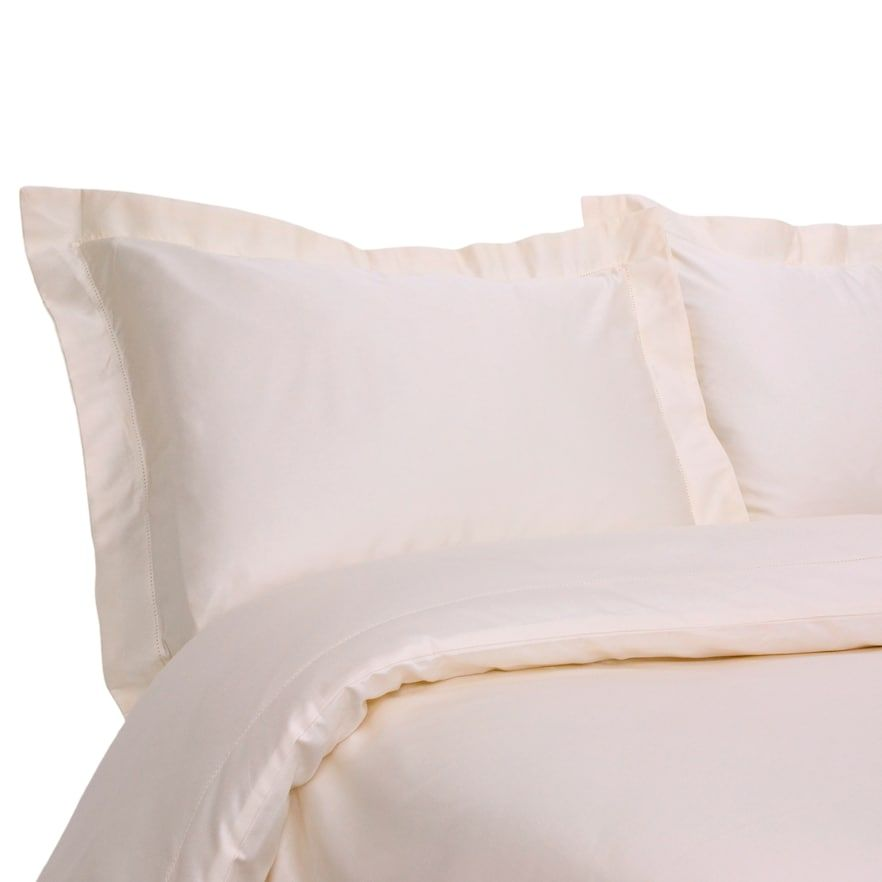 Grand Collection Hemstitch 400 Thread Count Duvet Cover Set White