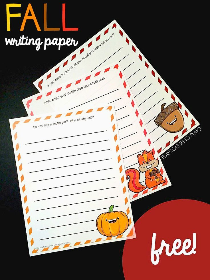 Fall Writing Pages Lesson Plans Printables Pinterest Writing