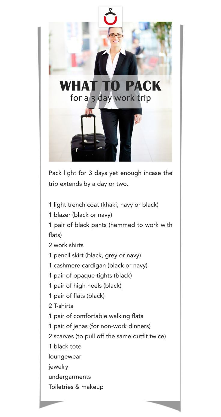 how to pack for a 3 day business trip travel in style pinterest