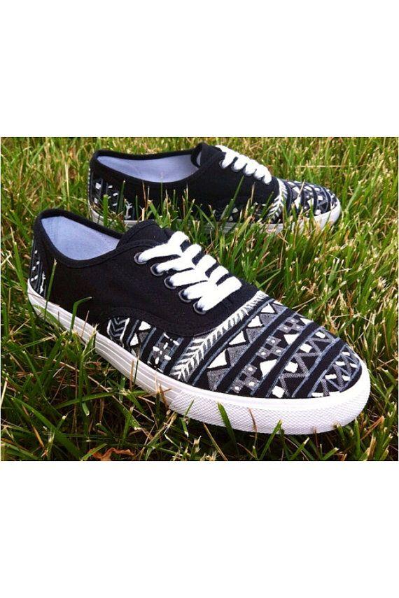 Black Chaussures front Soulier Vans Et Design Aztec Chaussure r0EqCr