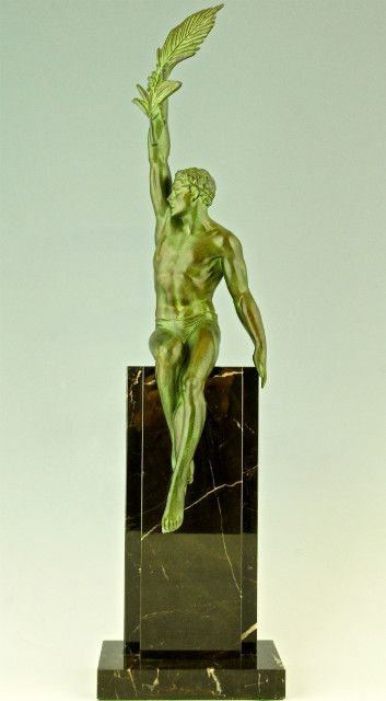 Victory, art deco sculpture of an athlete
