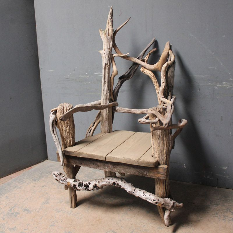 Ordinaire Drift Wood Art Work | Marvellous And Large Scale Throne Like Chair Made Out  Of Driftwood