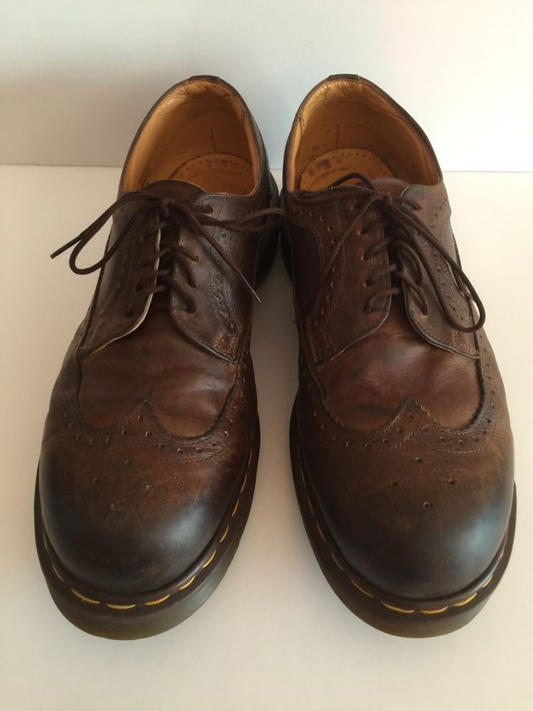 0beb7f00b7d46 Dr Martens 3989 Brown Leather Wingtip Brogue Shoes Men's Size 12 Made in  England #DrMartens #Oxfords
