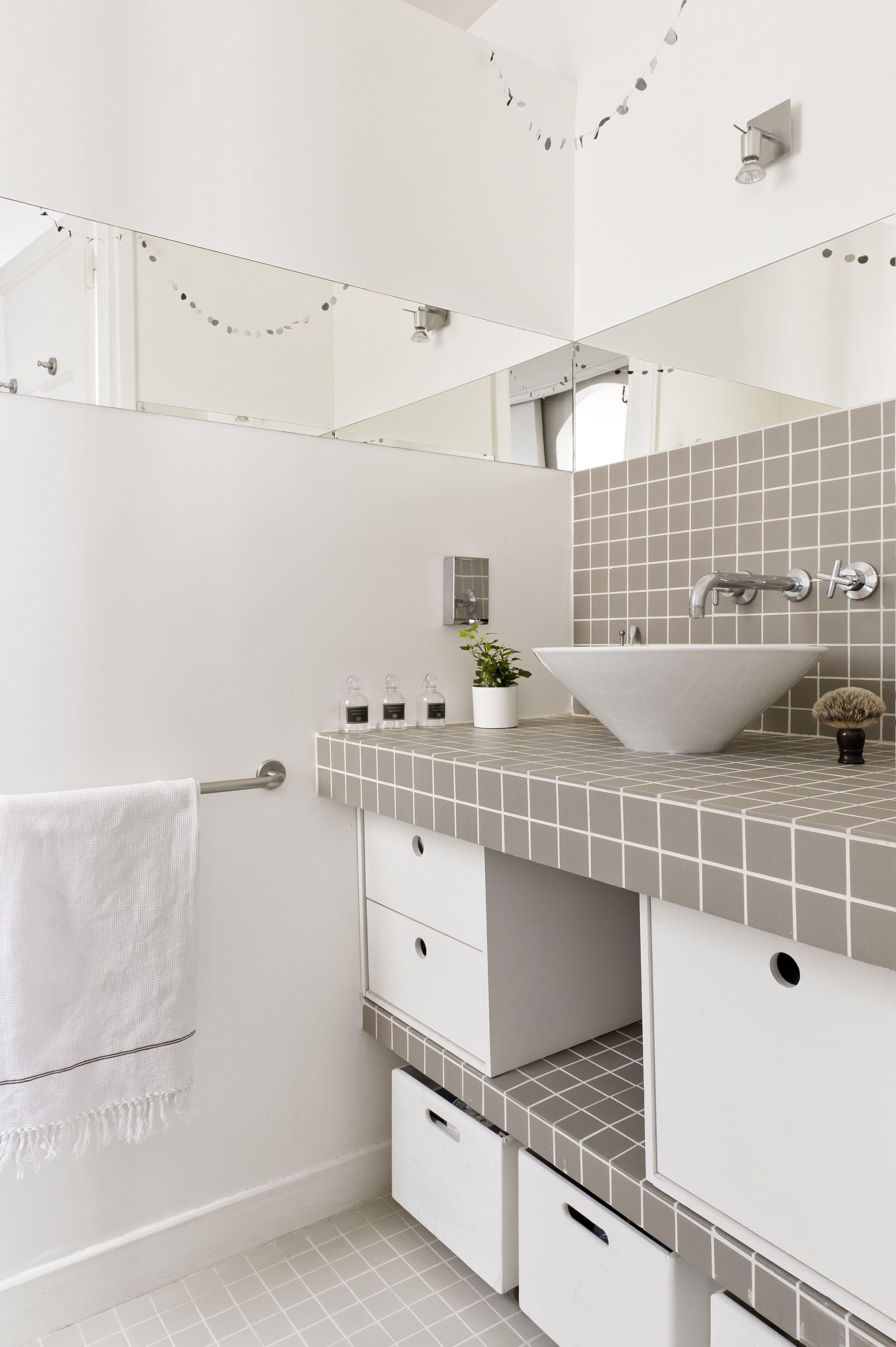 Salle De Bain Hipster ~ salle de bain avec plan vasque en mosa que a montmartre chez