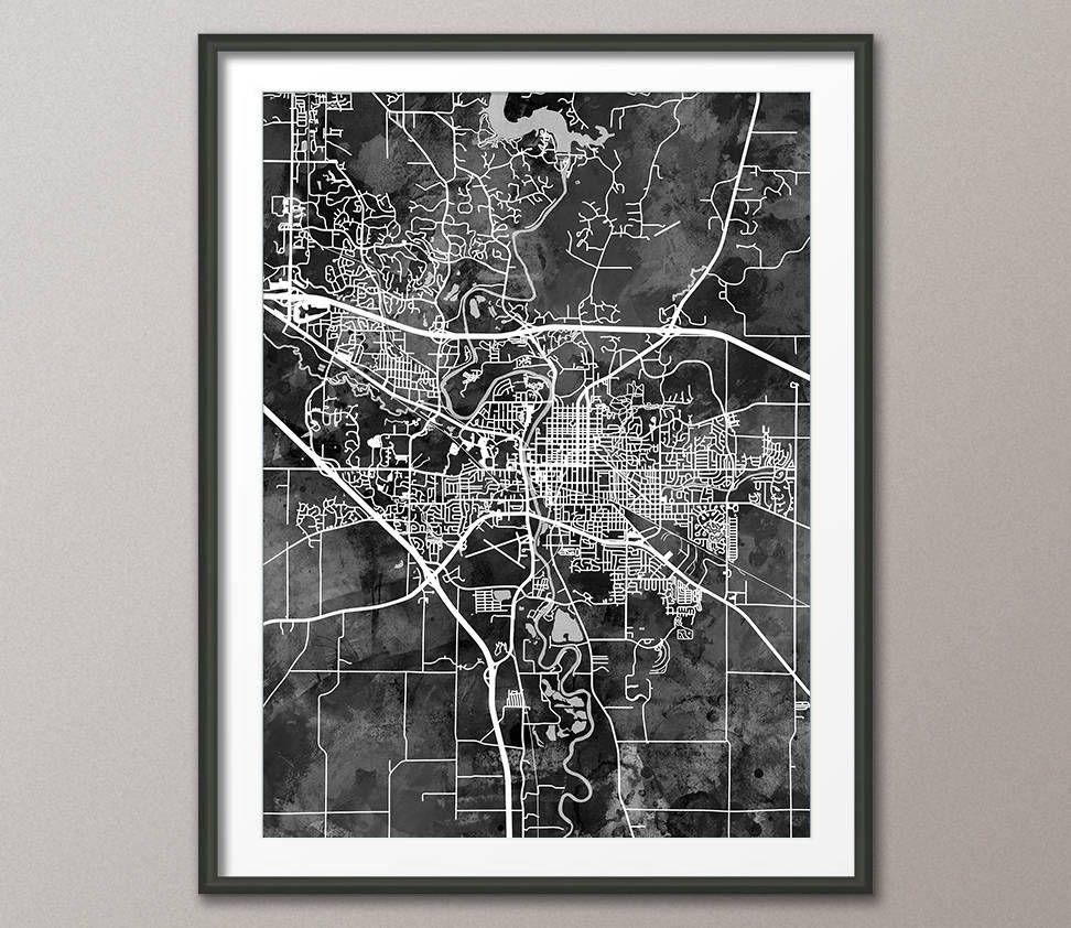 Iowa City Map Iowa City Iowa Map Art Print 3545 Iowa City