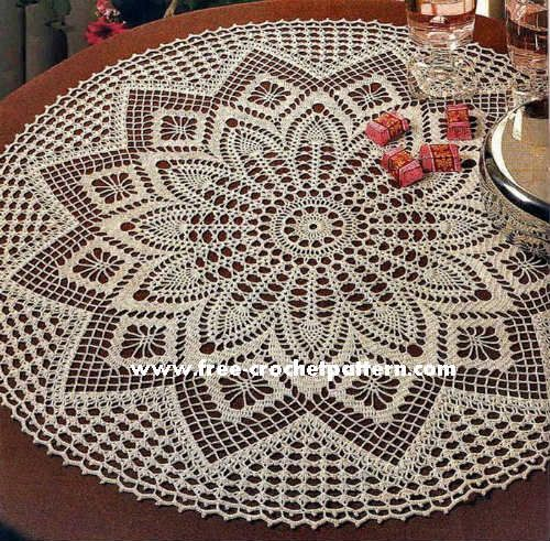 Find an awesome collection of 10 free crochet doily patterns to ...