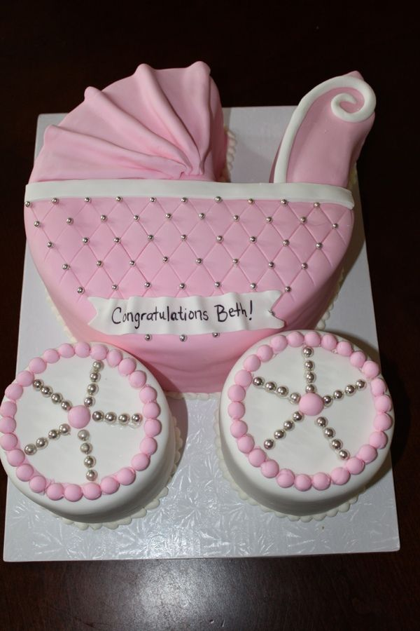 Cake Decorating Baby Carriage : Baby shower stroller cake Cakes and cupcakes Pinterest ...