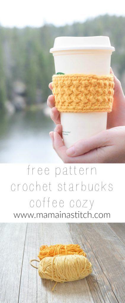 Happiest Starbucks Coffee Cup Cozy | Pinterest | Tejido