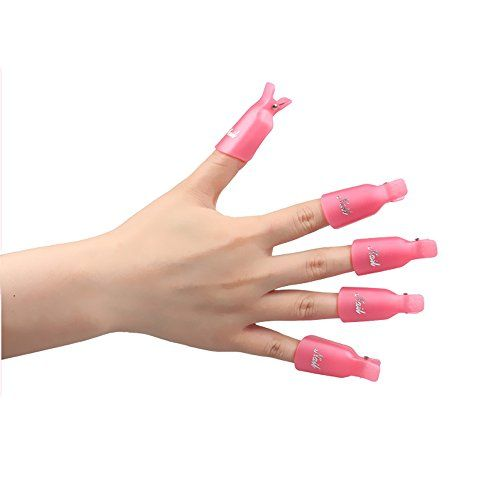 Lke 10pcs acrylic nail art soak off cap clip uv gel polish remover lke 10pcs acrylic nail art soak off cap clip uv gel polish remover manicure tool pink prinsesfo Image collections