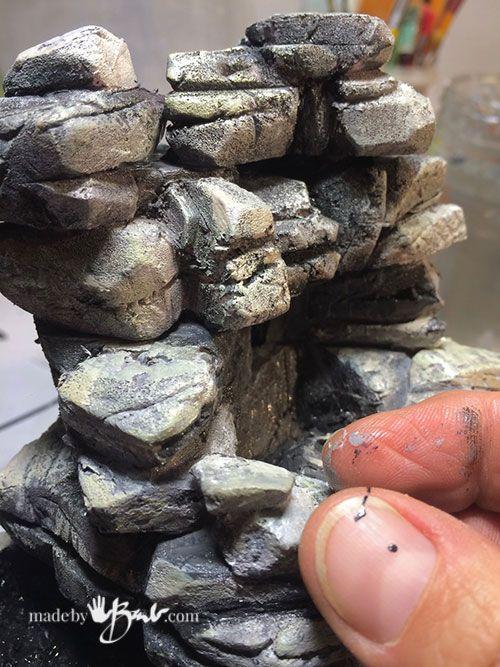 Diy Miniature Terrarium Waterfall Madebybarb Build With Styrofoam