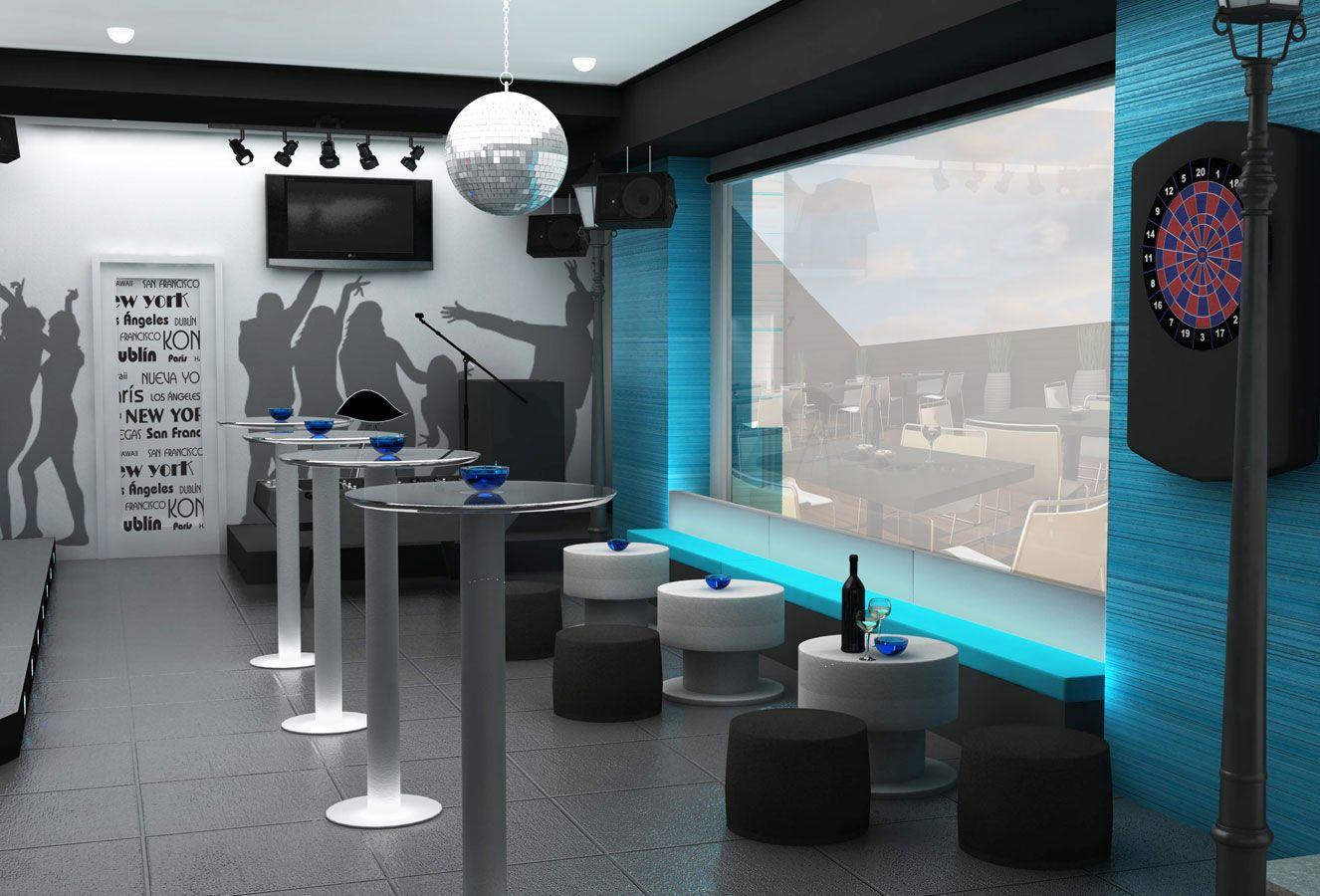 Proyecto de interiorismo bar de copas 120 m2 madrid - Interiorismo en madrid ...