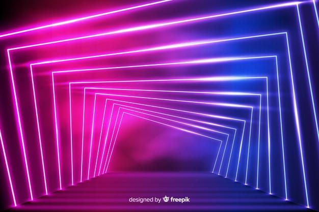 Download Vip Neon Lights Entrance Way Background For Free Gambar Seni