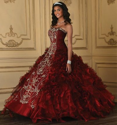 a44d3b85e5 Quinceanera Shiny Organza Ruffle Dress 26634 by House of Wu at frenchnovelty.com   589