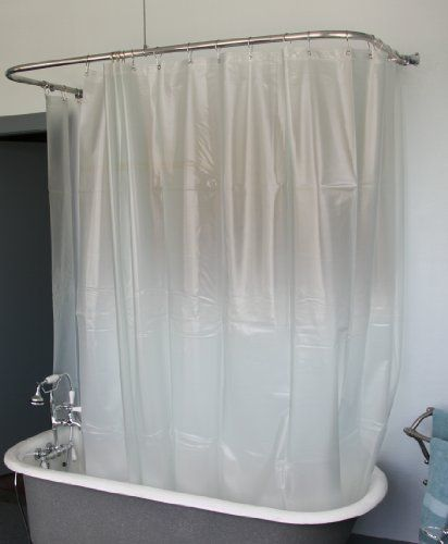 Extra Wide Shower Curtain For A Clawfoot Tub Opaque With Magnets